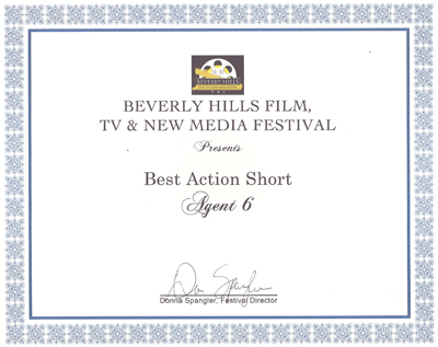 Beverly Hills Film Fest Award LA Production Company