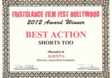 "FirstGlance Film Festival Award Winner ""Agent 6″"