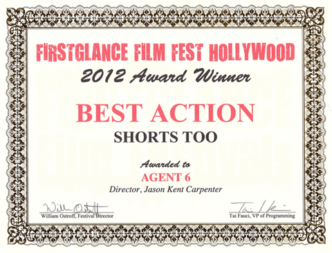 Film and Video Production Company THF - Firstglance Film Festival Award for Agent 6