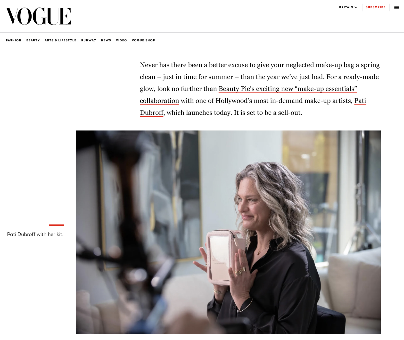 Pati Dubroff British Vogue Article For Instagram